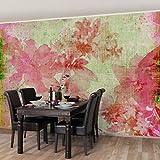Apalis Vliestapete Blumentapete Forgotten Beauties II Fototapete Breit | Vlies Tapete Wandtapete Wandbild Foto 3D Fototapete für Schlafzimmer Wohnzimmer Küche | rosa, 94920