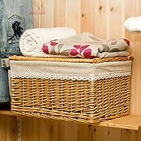 Hoobor House mobili in vimini, la proprietà cesto vasca da bagno vestiti colorati abbigliamento Basket camera da letto ammettere indumenti macchiati Basket,Re60*40*40cesto scuro