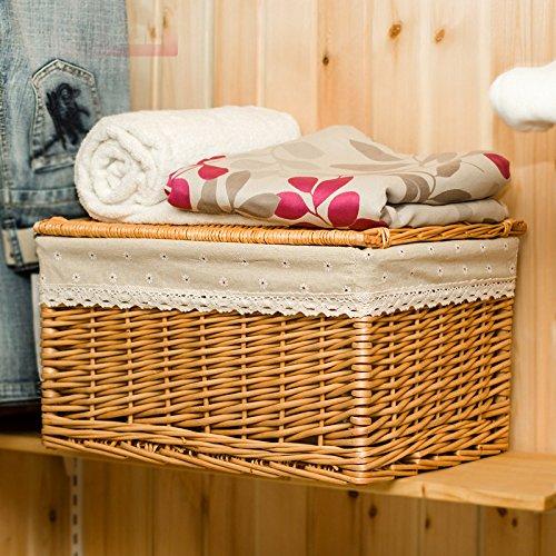 Hoobor House mobili in vimini, la proprietà cesto vasca da bagno vestiti colorati abbigliamento Basket camera da letto ammettere indumenti macchiati Basket,Re60*40*40cestello luce