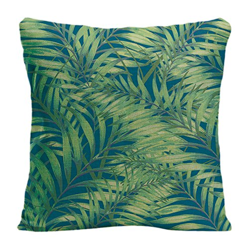 ldj-decorpillow-taie-doreiller-decoratif-housse-de-coussin-taie-doreiller-motif-avec-tropical-leaves