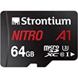 Strontium Nitro A1 64GB Micro SDXC Memory Card 100MB/s A1 UHS-I U3 Class 10 with High Speed Adapter for Smartphones…