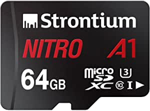 Strontium Srn64gtf U1 A1a 64 Gb A1 Performance For Fast App With Sd Adapter