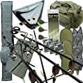 Full Carp Fishing Tackle Set Up With 3x Rods 3x Reels Includes Rod Holdall Carryall by Carp Corner