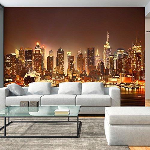 murando – Papier peint intissé 400x280 cm – Trompe l oeil – Tableaux muraux déco XXL – Ville New York d-B-0034-a-d