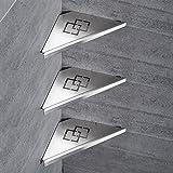 QJONKE Badezimmer Regale Duschwanne Edelstahl 304 Edelstahl 3-Tier Pinsel Nickel zeitgenössische Dreieck Rack Wand Küche Badezimmer