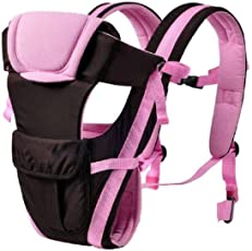 Golden Feather Baby Carrier | Baby Sling| Adjustable Hand Free 4 in 1 Baby Carrier Bag | Baby Carrier | handfree Baby Carrier | Baby Sling | with Waist Belt (Pink)