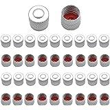 Dzsomt 38 Pièces Bouchon de Valve Bouchon Valve Voiture Bouchons de Valve Bouchon Pneu Voiture Anti-poussière Capuchons pour