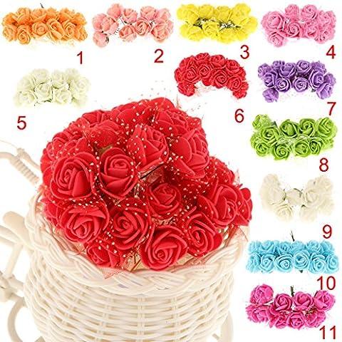 144pcs Petite Rose Fleur Bouquet Artificielle Décoration De Fête Maison