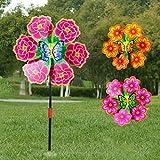 Qiman Blume Windmühle Wind Spinner Windräder Hausgarten Hof Dekoration Kinder Spielzeug