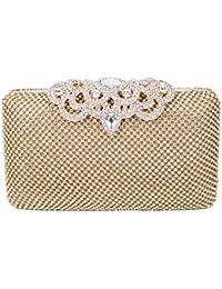 43ec2c403 SYMALL Mujer Bolso de Mano con Diamantes Cristales Brillantes Cartera de  Mano Estilo Elegante de Lujo