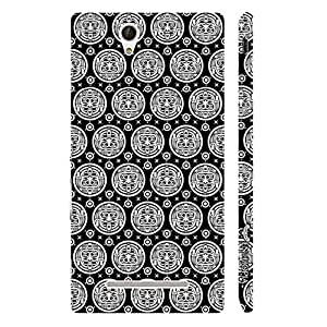 Sony Xperia C3 Black Woodo designer mobile hard shell case by Enthopia