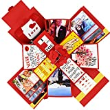 Best Anniversary Gifts For A Girlfriends - DecuT Explosion Box for Anniversary 3 Layered Handmade Review