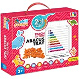 Skill Factory 2 In 1 Educational Learning Board With Beads To Create On Abacus Tray/writing Board/Multipurpose Board For Kids/EN 71 Certified For Kids/multicolor Board For Kids