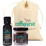 mCaffeine Mini Coffee Deep Cleansing Hair Care Duo | Hair Fall Control | Dandruff Control | Shampoo (30ml), Scalp Scrub (30gm