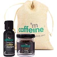 mCaffeine Mini Coffee Deep Cleansing Hair Care Duo | Hair Fall Control | Dandruff Control | Shampoo (30ml), Scalp Scrub…