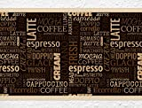 "I-love-Wandtattoo b-10065 Küchenbordüre ""Kaffee Sorten"" Schriftzüge Bordüre Küche Kaffeemotiv Wanddeko"