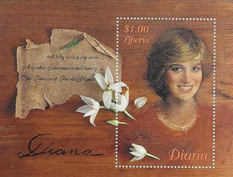 Collection de timbres–Princess Diana–Princesse Pays De Galles MNH simple tampon Feuille/Libéria/
