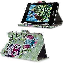 Sony PRS-T3s eBook Reader bzw. Tablet Schutzhülle / Tasche mit Standfunktion und Designmuster Eulen auf Ast(2)