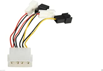 2Pin to D Type 4Pin Molex Power Y-Splitter Cord Cable for PC Fan 12v/5v