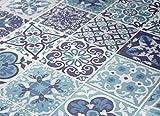 Wandaufkleber Portugiesische Blaue Küche Fliesendekor Ideen (Packung mit 48) (20 x 20 cm)
