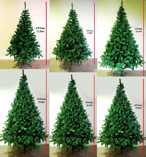 *SALE* 8 FOOT GREEN ARTIFICIAL CHRISTMAS TREE 8FT (2.4M) FANTASTIC DELUXE GORGEOUS HIGH QUALITY BUSHY ARTIFICIAL CHRISTMAS TREE *UK SELLER*
