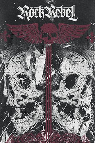 Rock Rebel by EMP Double Skull Shirt Girl-Shirt schwarz Schwarz