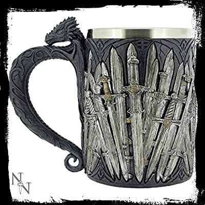 GTH226F Nemesis Now Game of Thrones Sword Tankard with Dragon Handle 14cm