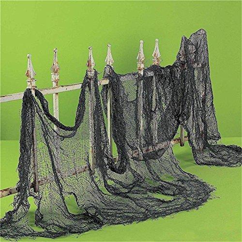 HENGSONG Halloween Gruselig Hängender Dekoration Halloween Party Deko Stoff Dekostoff Tuch Decke Horror Halloweenstoff (Schwarz) (Decke Dekoration)