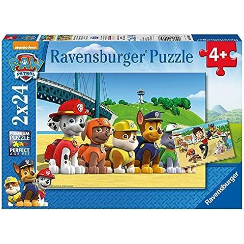 Paw Patrol - Puzzle, 2 x 24 piezas (Ravensburger 09064 8)