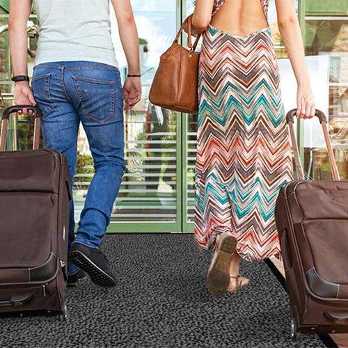 casa pura® Premium Fußmatte / Sauberlaufmatte für Eingangsbereiche | Fußabtreter mit Testnote 1,7 | Schmutzfangmatte in 8 Größen als Türvorleger innen und außen | anthrazit - grau | 60x90cm - 4