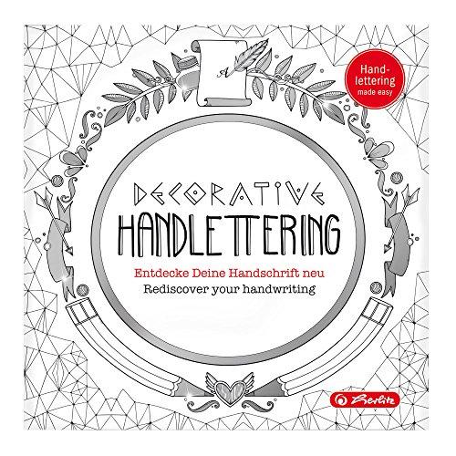 Herlitz 50013500 Malheft Decorative Handlettering für Erwachsene