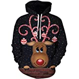 Chaos World Men's Hoodie Christmas Fashion Realistic 3D Print Sweatshirt Unisex Casual Pullover