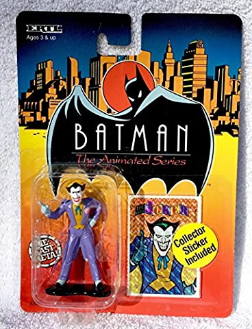 Ertl - 1993 - Batman the Animated Series - Joker Figure - Die Cast Metal - w/ Collector Sticker - Rare - Limited Edition - Mint - Colelctible