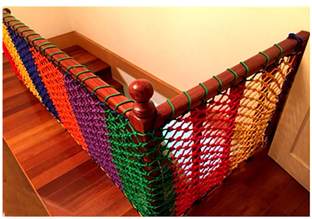 Wathet Child safety net protective net balcony stairs anti-fall net kindergarten color decorative net fence network Width 1/4M Length 1M /9M Hand braided traditional structure (Size : 4 * 5)  [Protect children's safety]: Many children fall from the building, let us understand that the safety of children can not be ignored. [Polyester knotless woven mesh]: The mesh surface has large pulling force, and the double needle has no knot woven mesh hole, so that the mesh has stronger impact resistance. [wire diameter 6MM, mesh spacing 6CM]: Escort for baby safety.(Others available in our shop) 27