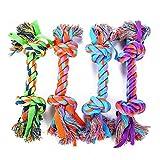 Pet Toys - Helle Farbe Hund beißende Seil Ribbon Combine Cotton Bone Knochen Hundespielzeug 4 Pack - Geeignet für Hunde spielen