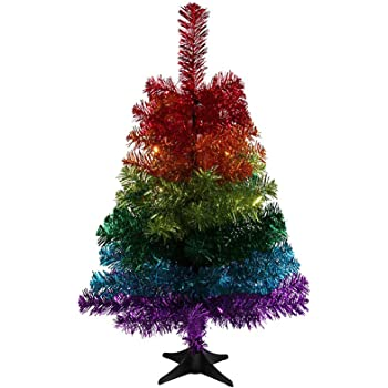 Paperchase Shiny rainbow 2ft Christmas tree: Amazon.co.uk: Office ...