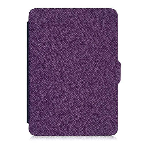 Fintie Kindle Paperwhite Hülle - Die dünnste und leichteste Smartshell Case Schutzhülle Tasche mit auto Sleep / Wake für den neuen Kindle Paperwhite 2015 (mit 300 ppi-Display, 6 Zoll, und integrierter Beleuchtung) und alle Modelle von 2012, 2013, 2014, Violett -
