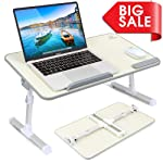 Foldable Laptop Standing Desk, Portable Laptop Table - Height and Angle Adjustable Notebook Stand, Breakfast and Bed Tray...