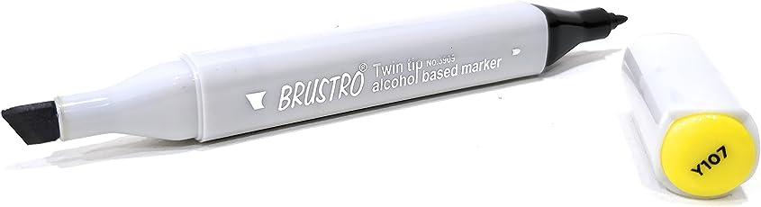 Brustro Twin Tip Alcohol Based Marker Lightning Yellow