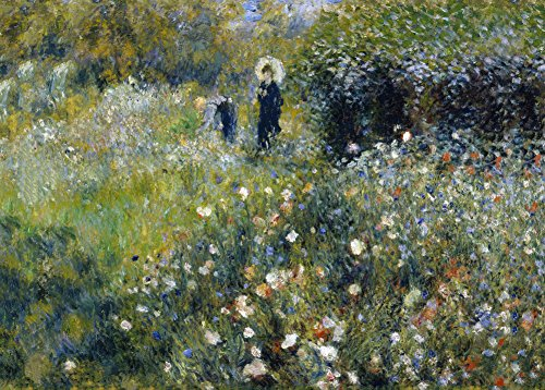 Auguste Renoir Frau mit einem Sonnenschirm in a Garden C1875250gsm, Hochglanz, A3,...