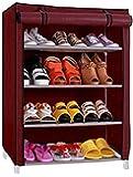 GR Marketing Foldable Shoe Rack 4 Shelves Multipurpose Shoe Rack | Collapsible Shoe Organizer | Shoe Cabinet