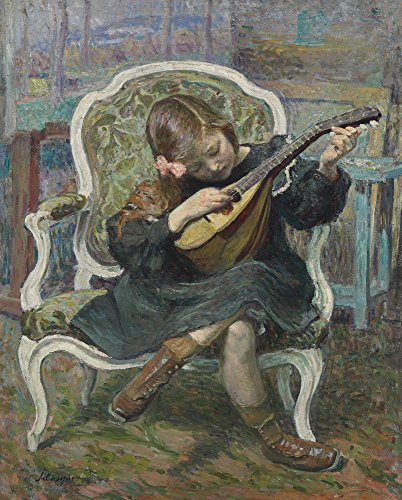 Das Museum Outlet–Little Mandoline Player (Marthe Lebasque), 1905–Leinwand Print Online kaufen (152,4x 203,2cm)