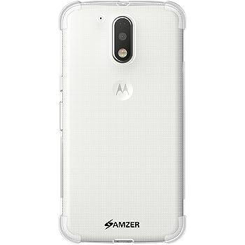 Amzer Pudding TPU X Protection Case Back Cover for Motorola Moto G4 / Motorola Moto G4 Plus - Clear