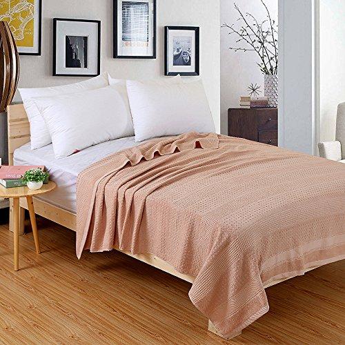 La vieille serviette en coton a été distinguée en été pour un oreiller d'été mince et une couverture pour deux 100% une couverture de courtepointe fraîche d'été traditionnelle., 0,9 m * 1,8 mètres [couverture pur coton sur canapé], nid d'abeille caramel [serviette]