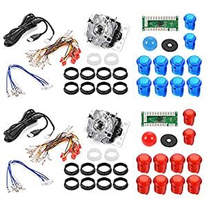 XCSOURCE 2 Imposta ritardo zero del gioco della galleria USB Kit Encoder PC LED Joystick fai da te per Mame Jamma & Altri Giochi di combattimento AC492