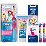 SPAR-SET: 1 Braun Oral-B Stages Power Kids 900 TX elektrische Akku-Zahnbuerste Kinder 3+ J. D12.513.K Disney Princess + 2er Stages Aufsteckbürsten + 75 ml Oral-B PRO-EXPERT Stages Kinderzahncreme Prinzessin