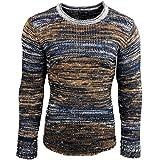 Rusty Neal Herren Pullover Hoodie Strickpullover Sweater Sweatshirt A1-RN-13333, Größe:2XL, Farbe:Camel