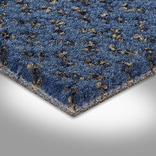Vorwerk Premium gemusterter Velours-Teppichboden Auslegeware 7219140002 blau - 4m breit