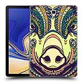 Head Case Designs Schwein Aztekische Tiergesichter Farm 4 Ruckseite Hülle für Samsung Galaxy Tab S4 10.5 (2018)
