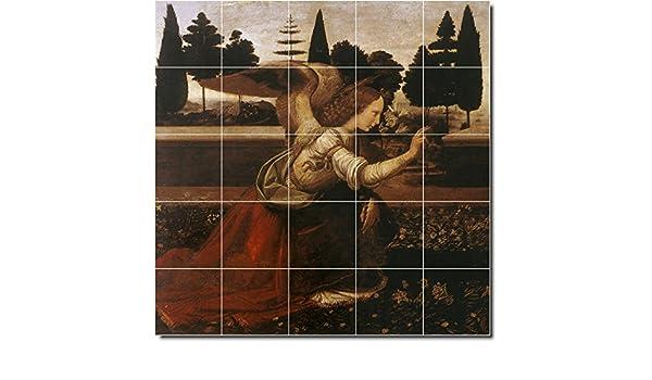 Leonardo da vinci piastrelle di ceramica angeli